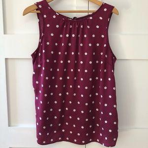 Mexx purple top polka dots